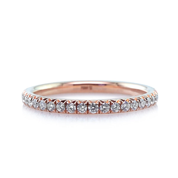Rose Gold Diamond Eternity Wedding Band