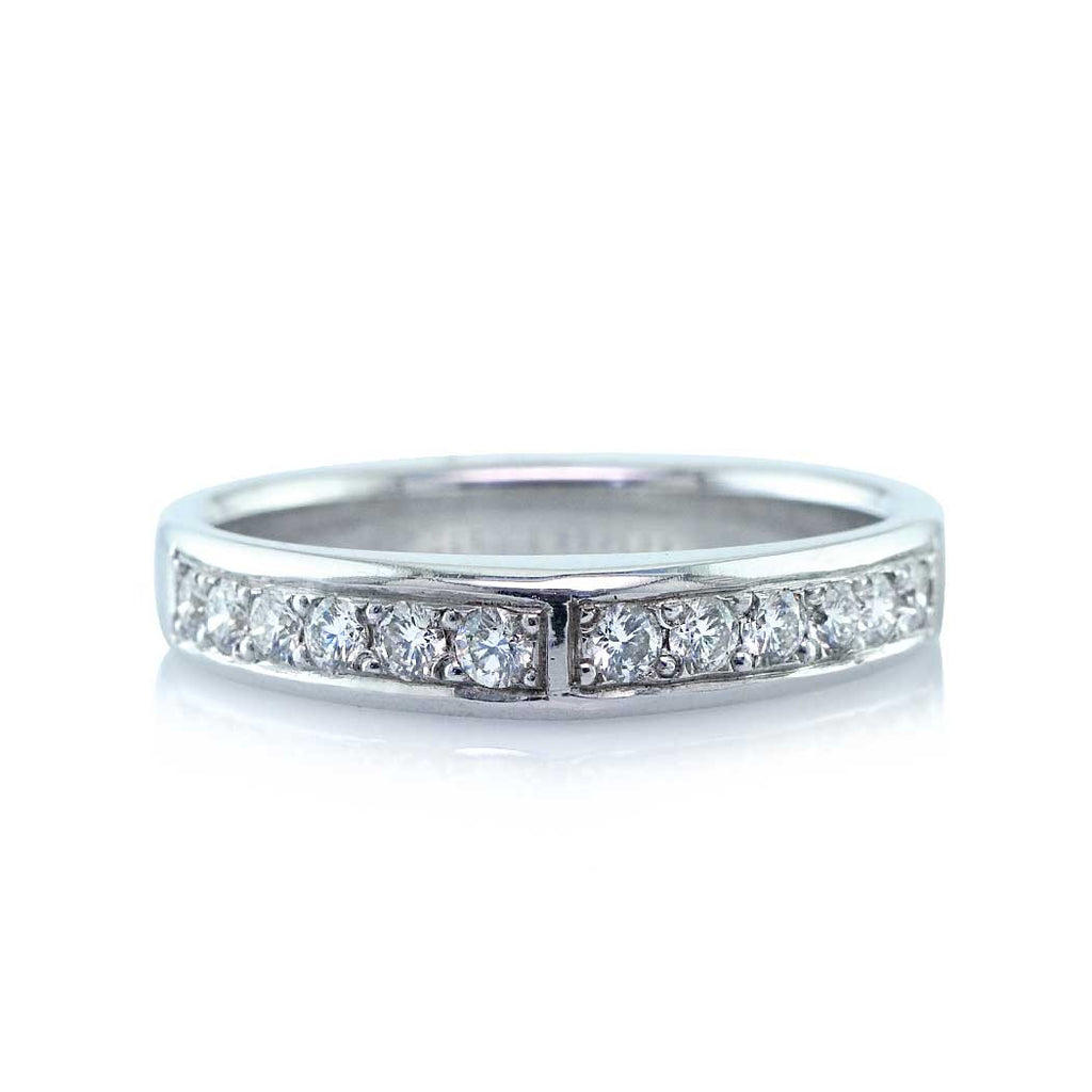 Triangle Diamond Wedding Band