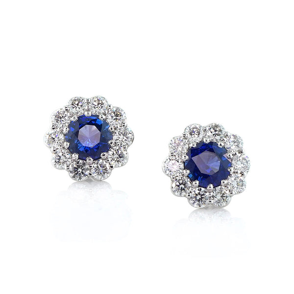 Faulhaber Le Bouquet Earrings with Blue Sapphires