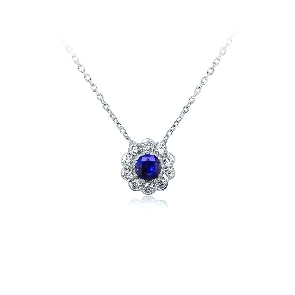products london silver es in created blue hopestar charm asscher sapphire chain necklace cut