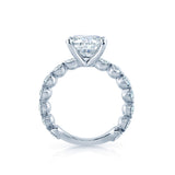 Round Diamond Engagement Ring with Half Bezel Set Sides