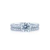 Round Diamond Engagement Ring with a French Cut Setting