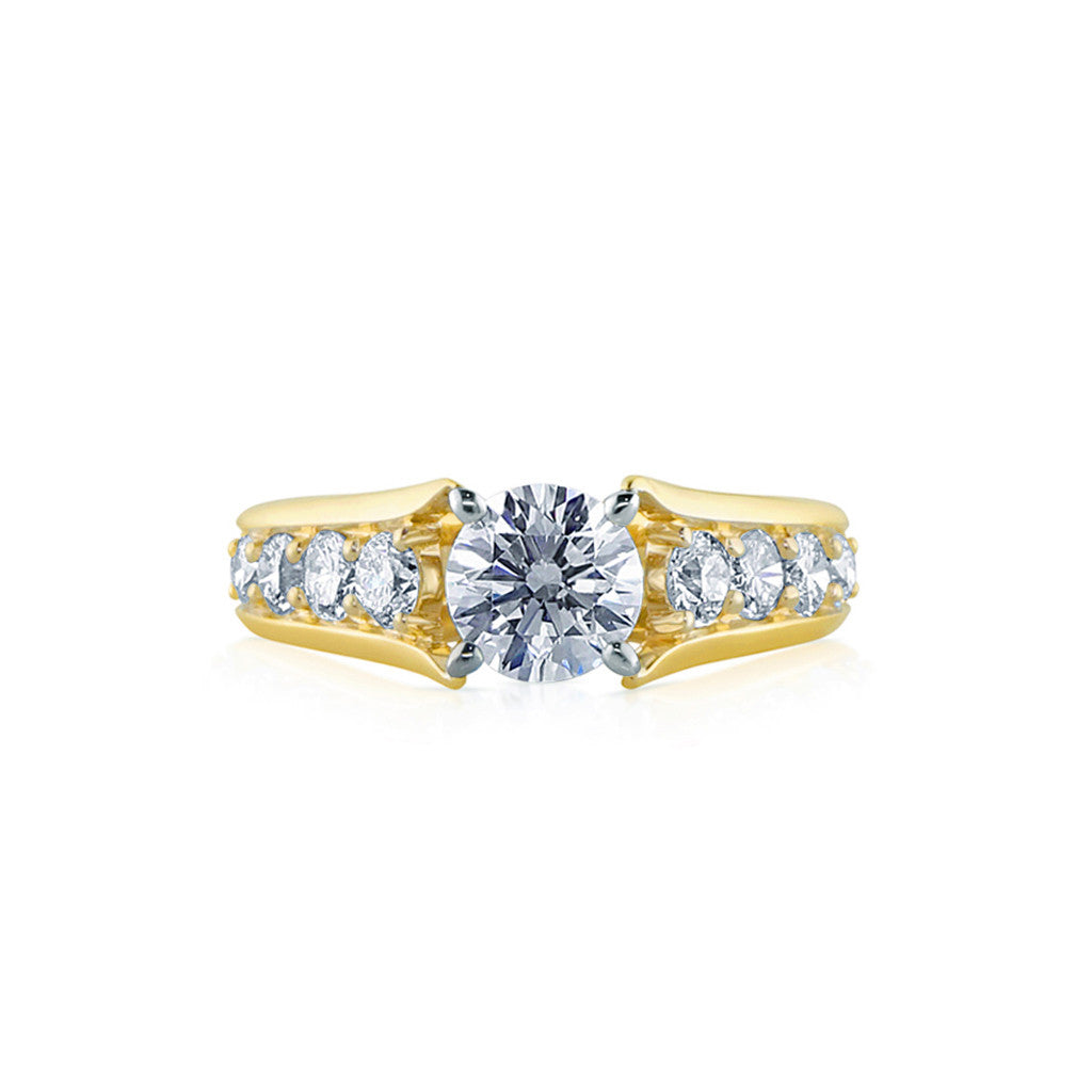Faulhaber Serenity Engagement Ring in Yellow Gold