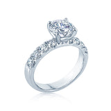 Round Diamond Engagement Ring with a Fish Tail Setting Custom Engagement Rings San Diego