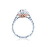 Faulhaber Versailles Diamond Engagement Ring with a White Gold Top