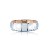 Two Tone Gold Comfort Fit Men's Wedding Band