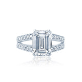Split Shank Emerald Cut Diamond Engagement Ring San Diego