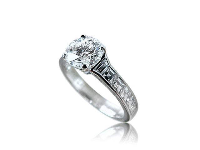 Asscher Cut Channel Set Diamond Engagement Ring San Diego