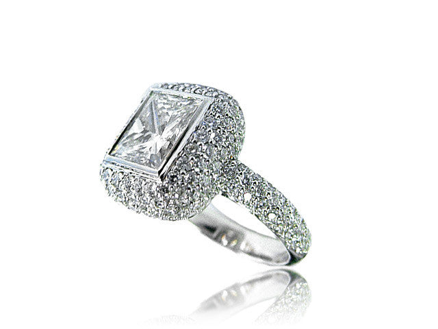Princess Cut Diamond Pillow Engagement Ring San Diego