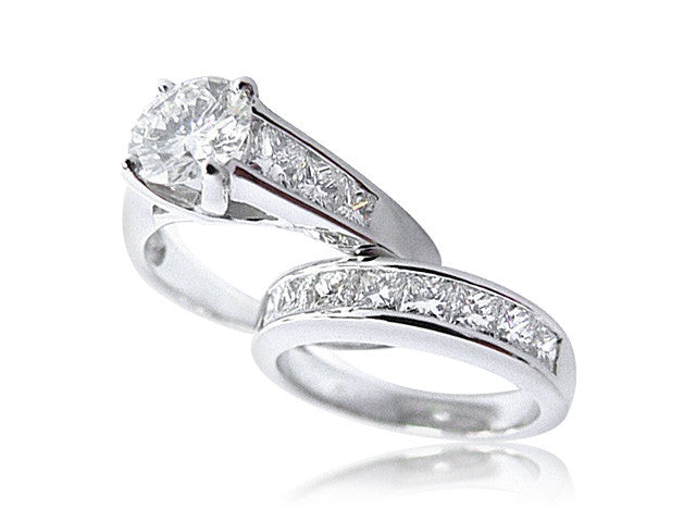 Princess Cut Channel Set Diamond Engagement Ring San Diego