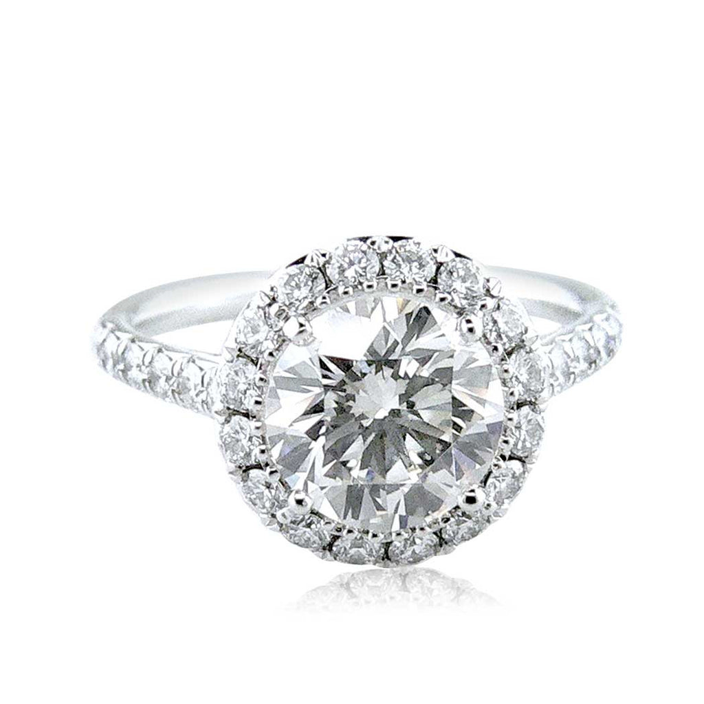 Round Halo Diamond Engagement Ring San Diego