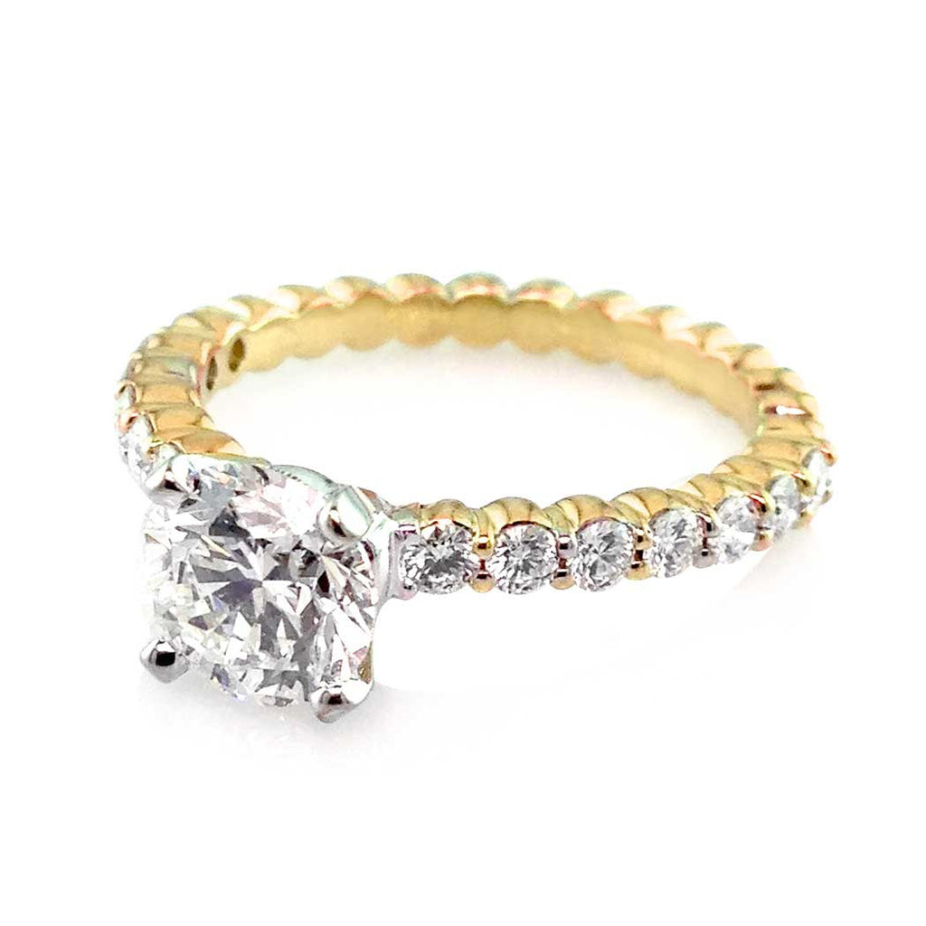 Round Cut Diamond Engagement Ring in Yellow Gold San Diego