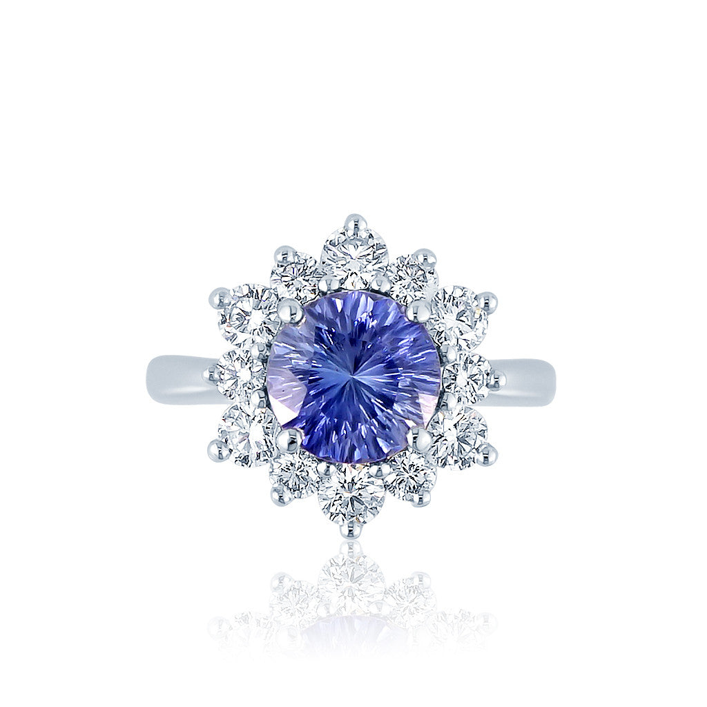 Blue Sapphire Diamond Engagement Ring San Diego
