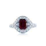 Art Deco Ruby Diamond Ring San Diego