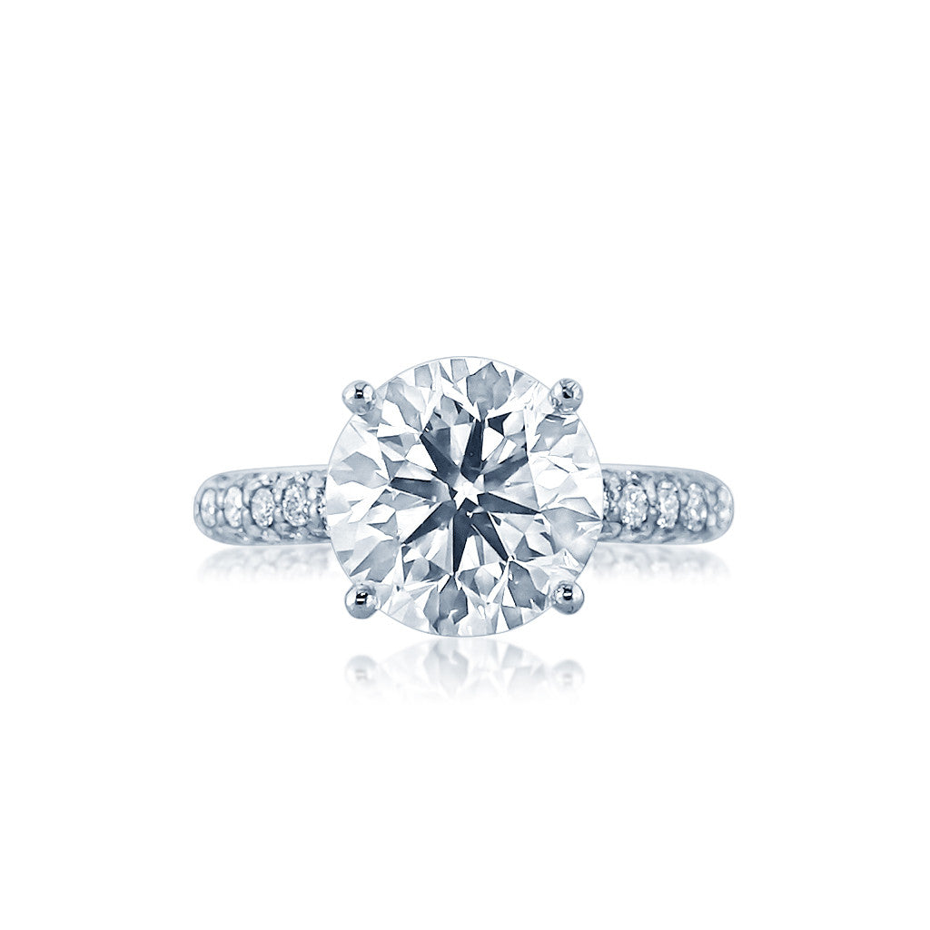 Diamond Engagement Ring with a Rounded Pave Setting San Diego