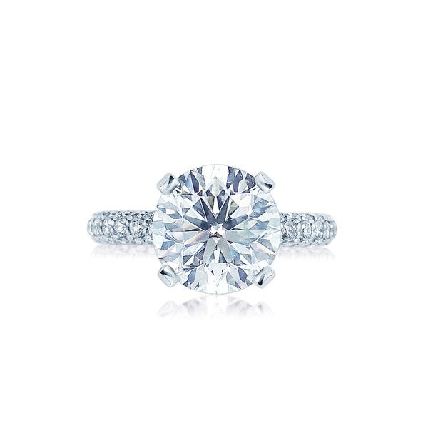 Faulhaber Sands of Time Diamond Engagement Ring with a Pointed Head