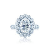 Faulhaber Oval Le Bouquet Engagement Ring San Diego