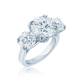 Unique Diamond Trinity Engagement Ring San Diego