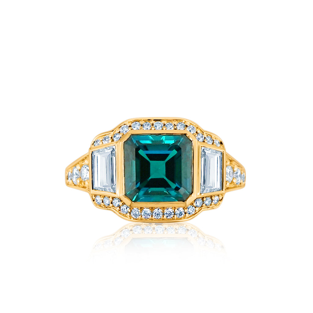 Emerald and Diamonds Iconic Ring San Diego