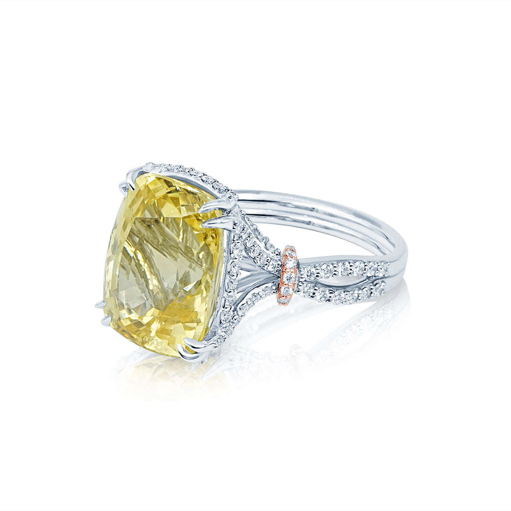 Natural Yellow Sapphire Cocktail Ring San Diego