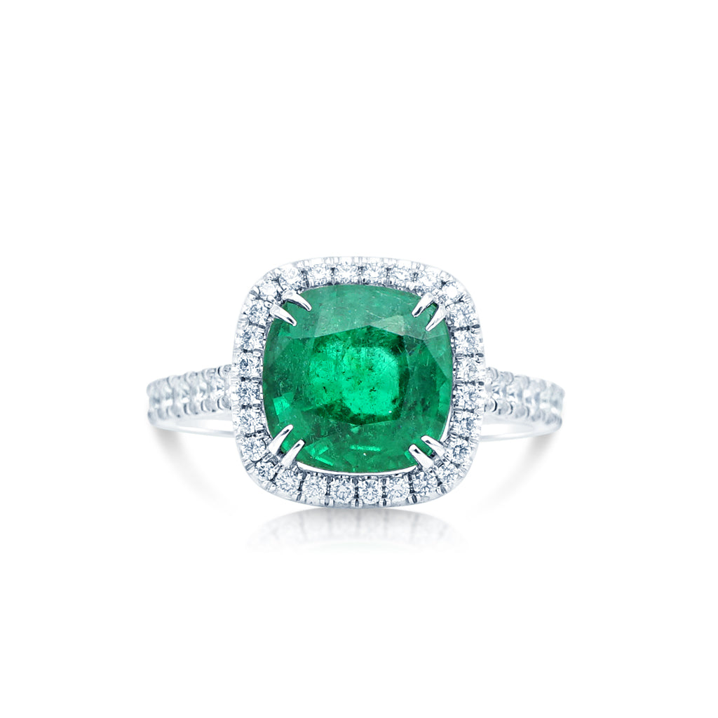 Natural Emerald And Diamonds Cocktail Ring San Diego