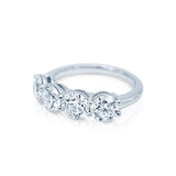 Classic Four Diamond Wedding Band San Diego