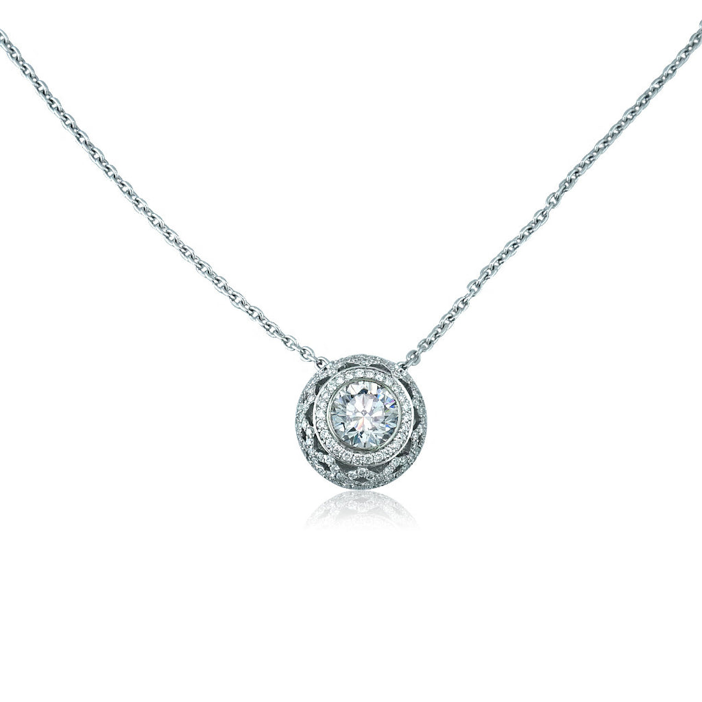 Weave Basket Diamond Necklace