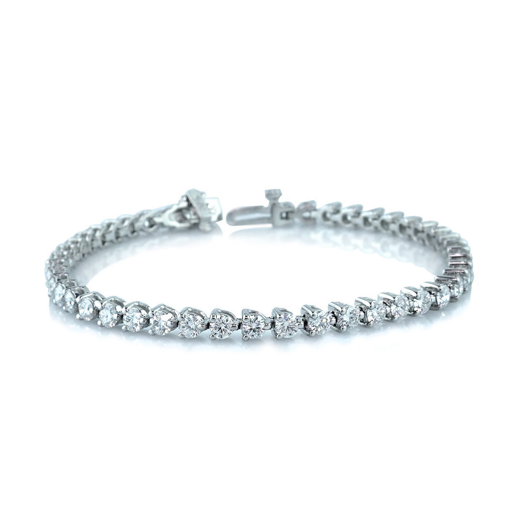tennis product j eternity white bracelet collection gold diamond