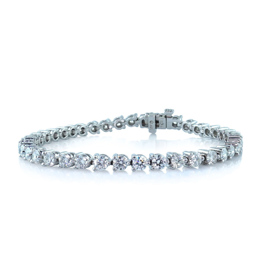in cushion platinum ct diamond set cut eternity kite pin bracelet