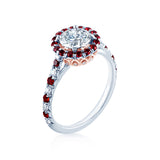 Faulhaber Versailles Ruby Diamond Engagement Ring