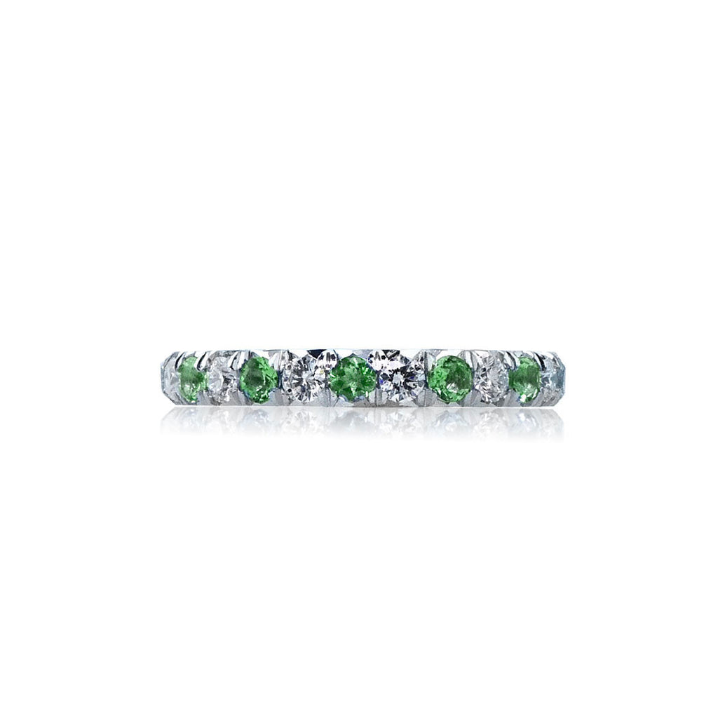 tourmaline ring rings paolo products and an diamond green costagli engagement