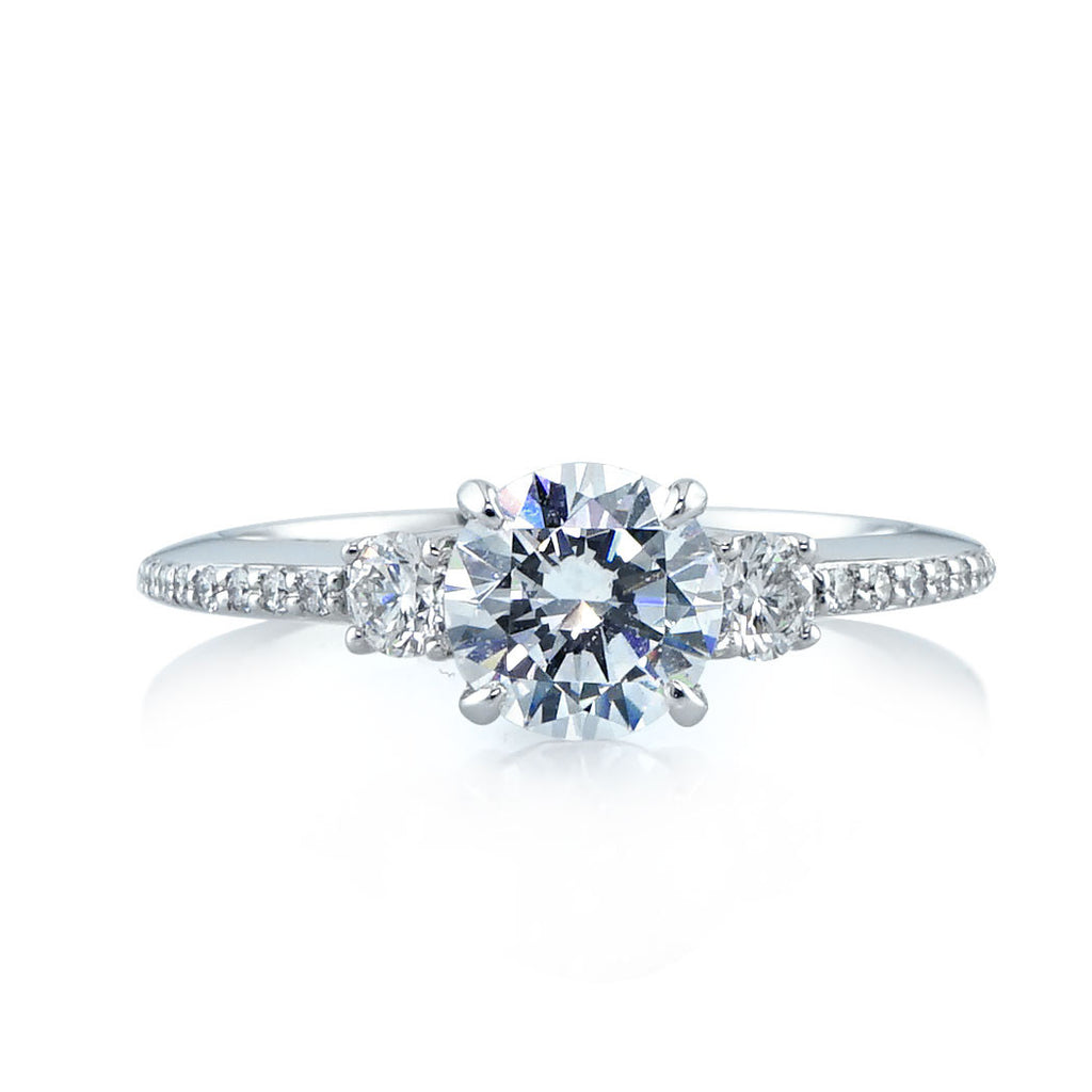 Refined Edge Diamond Engagement Ring