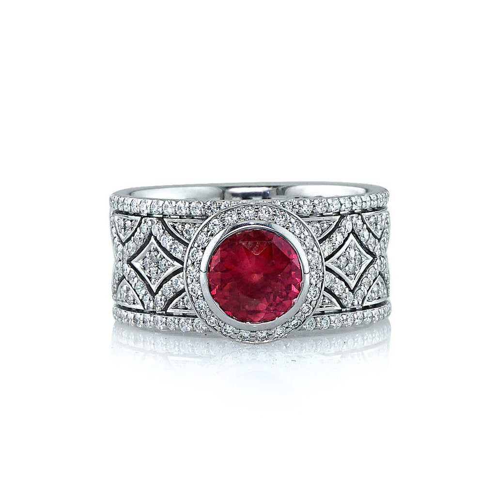 Vintage Ruby Diamond Ring