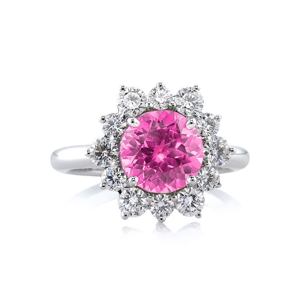 pink rings sapphire ring jewellery brilliant diamond platinum precious round marquise amp image