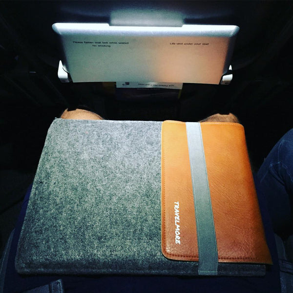 Laptop Sleeve With Built-In Leather Mouse Pad
