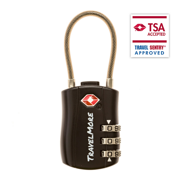 5 Pack Luggage Locks - Black TSA Travel Locks