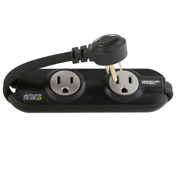 Compact Travel Power Strip - 4 AC Outlets - TravelMore - 2