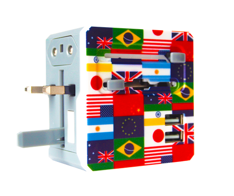 Universal Travel Adapter With Dual USB