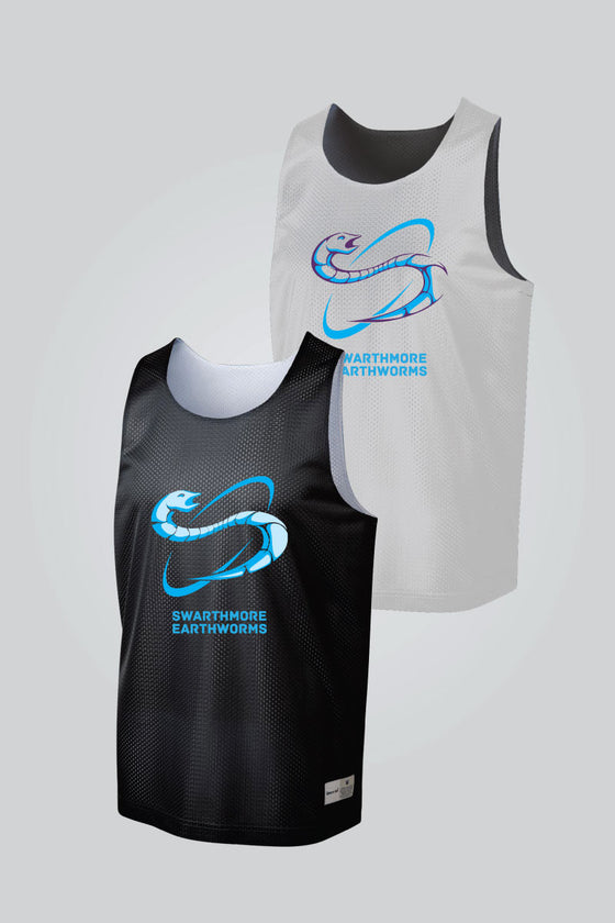 Earthworms - Black/White Reversible Pinnie