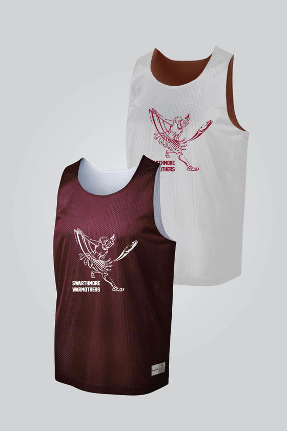 Warmothers - Maroon/White Reversible Pinnie