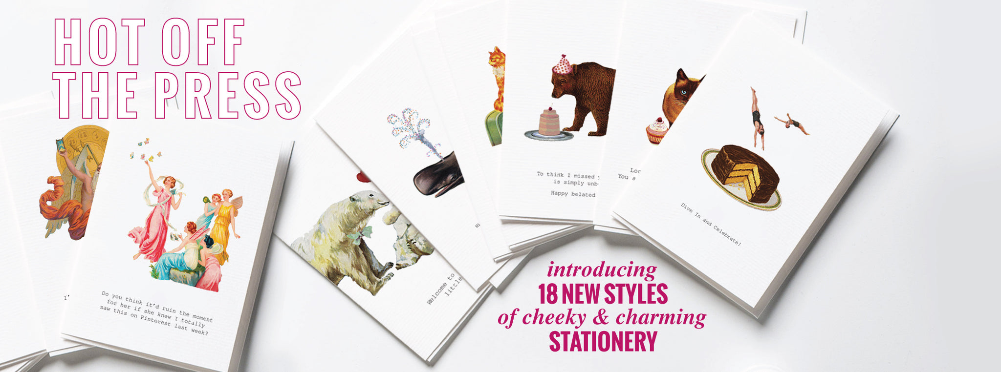 Funny Greeting Cards | Quirky & Unique Hand-glittered Stationery ...