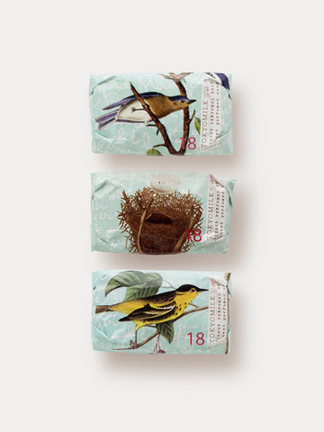 Mini bar soap collection with bird and birds nest theme
