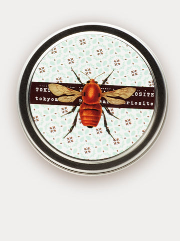 Scented Travel Candle in Tin with Honey scent and Bee theme