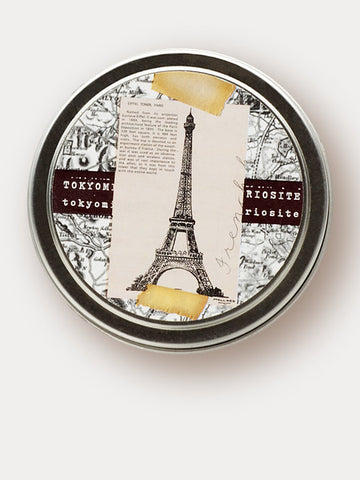 Scented Candle with eiffel tower and Paris theme