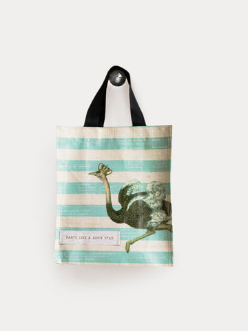 Ostrich Party Like A Rockstar Small Tote