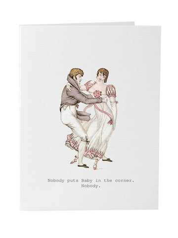 Nobody puts baby in the corner blank greeting card stationery