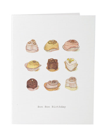 Blank birthday card stationery with cupcake theme