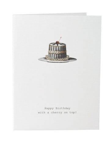 Happy Birthday Card - cherry on top of cake