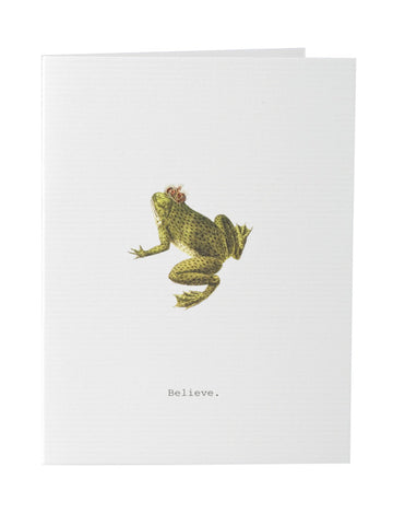 Greeting card blank stationery with frog theme