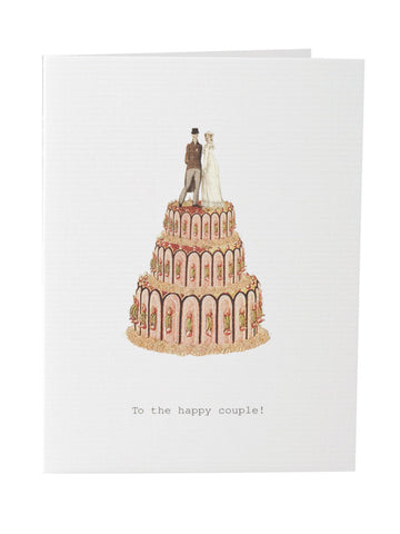 To The Happy Couple Wedding Card on Blank Stationery